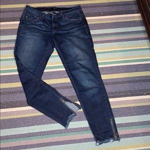 Ankle zip KanCan skinny jeans